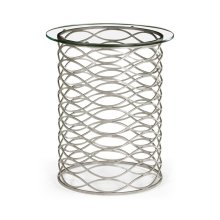 Interlaced Silver & Glass Side Table
