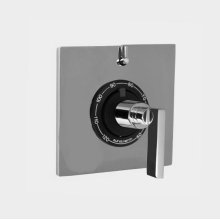"""1/2"""" Thermostatic Shower Set with Stixx Handle and Square Plate with One Volume Control (available as trim only P/N: 1.059596.V1T)"""