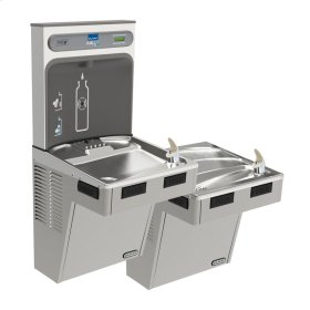Elkay EZH2O Bottle Filling Station with Bi-Level ADA Cooler, Non-Filtered Non-Refrigerated Light Gray
