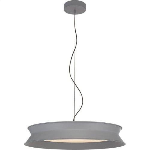 Visual Comfort PB5022STG Peter Bristol 60/40 LED 26 inch Stone Gray Pendant Ceiling Light