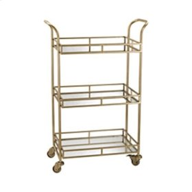Julep Gold Bar Cart