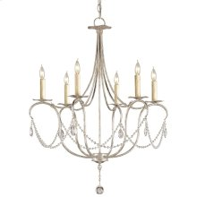 Crystal Lights Silver Small Chandelier