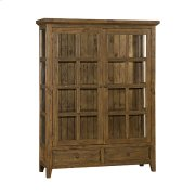 Tuscan Retreat® Display Cabinet 2 Doors 2 Drawers With Clear Glass - Antique Pine Product Image
