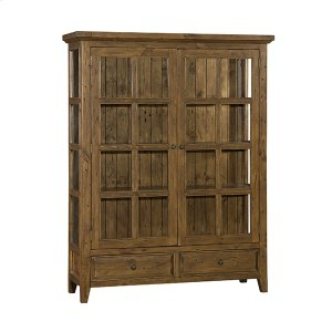Hillsdale FurnitureTuscan Retreat(r) Display Cabinet 2 Doors 2 Drawers With Clear Glass - Antique Pine