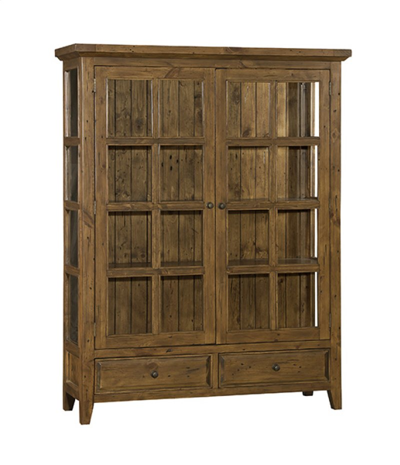 Tuscan Retreat® Display Cabinet 2 Doors 2 Drawers With Clear Glass - Antique  Pine - 5225859W In By Hillsdale Furniture In Charleston, SC - Tuscan