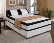 "Matt Midnight Cal King 6/0 12""gel-visco-bamboo Charcoal Memory Foam Cal King 6/0"