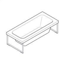 Bath tub made in methacrylate Kaos 3 free standing. 1800 x 800 x h 510