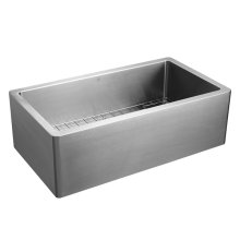 Hillside 36 Inch Stainless Steel Kitchen Sink - Stainless Steel