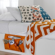 Canvas Bedside Storage Caddy - Orange