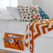 Canvas Bedside Storage Caddy - Orange