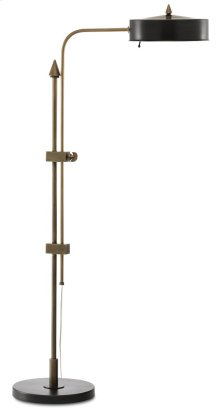 Abram Brass Floor Lamp