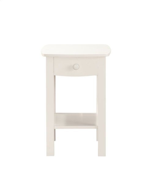 Emerald Home Home Decor 1 Drawer Nightstand-white B343-04wht