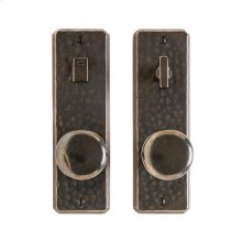 """Hammered Privacy Set - 2 1/2"""" x 8"""" Silicon Bronze Brushed"""