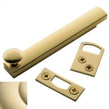 Lifetime Polished Brass General Purpose Surface Bolt