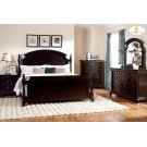 CAL KING PANEL BED, DARK CHERRY Product Image