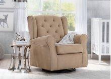 Emerson Nursery Glider Swivel Rocker Chair - Beige with Ecru Welt (923)