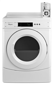 "27"" Commercial Gas Front-Load Dryer Featuring Factory-Installed Coin Drop with Coin Box"