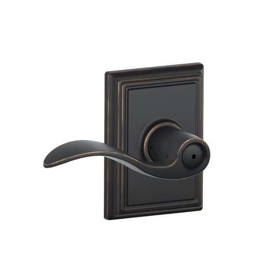 Accent Lever with Addison trim Bed & Bath Lock - Aged Bronze