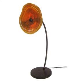 "Amber Orange Table Lamp 22"" H"