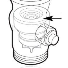 Commercial flush valve piston control disc
