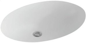 Undercounter washbasin Oval - White Alpin