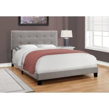 BED - QUEEN SIZE / GREY LINEN