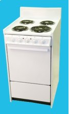 "20"" Electric Range Mono-Chromatic White Product Image"