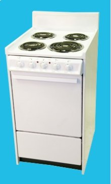 "20"" Electric Range Mono-Chromatic White"