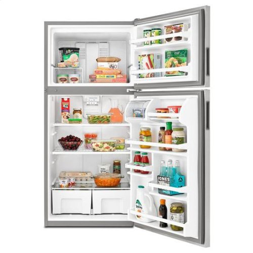 30-inch Wide Top-Freezer Refrigerator with Garden Fresh™ Crisper Bins - 18 cu. ft. - black