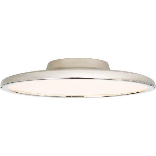Visual Comfort PB4003PN Peter Bristol Dot LED 17 inch Polished Nickel Flush Mount Ceiling Light