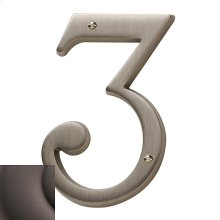 Distressed Venetian Bronze House Number - 3