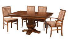 """42/60-2-12"""" Leaf 5/4 Thick Top Rect. Pedestal Table"""
