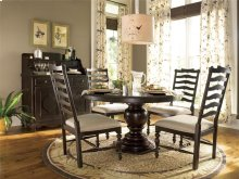 Round Pedestal Table - Tobacco