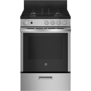 "GE®24"" Steam Clean Free-Standing/Slide-in Gas Range"