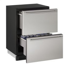 "CLOSEOUT ITEM: 24"" Solid Refrigerator Drawers Stainless Solid Drawers"