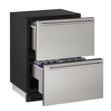 """CLOSEOUT ITEM: 24"""" Solid Refrigerator Drawers Stainless Solid Drawers"""
