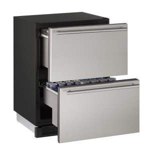 "U-Line24"" Solid Refrigerator Drawers Stainless Solid Drawers"
