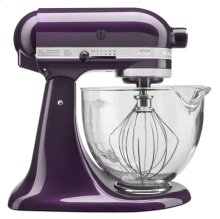 Artisan® Design Series 5 Quart Tilt-Head Stand Mixer with Glass Bowl - Plum Berry