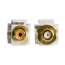 Recessed RCA-F Keystone Inserts - Orange