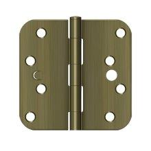 """4"""" x 4"""" x 5/8"""" Radius Hinge, Security - Antique Brass"""