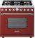 Additional Range DECO 36'' Classic Red matte, Chrome 6 gas, electric oven, self-clean