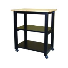 Microwave Cart in Black & Natural