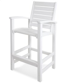 White Signature Bar Chair