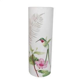 "White Hummingbird Vase 16"""