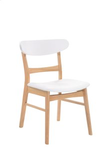 Side Chair Wood Back W/uph Pu Seat White Rta