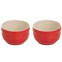 Staub Ceramics 2-pc Prep Bowl Set, Cherry
