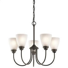 Jolie Collection Jolie 5 Light Chandelier - Olde Bronze OZ