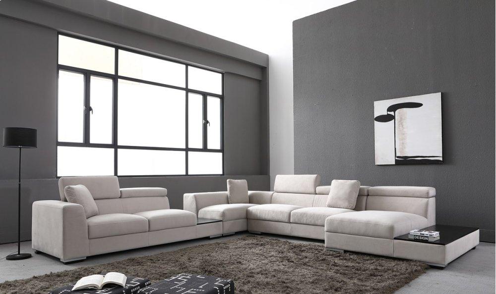 Divani Casa Forte   Modern Modular Fabric Sectional Sofa