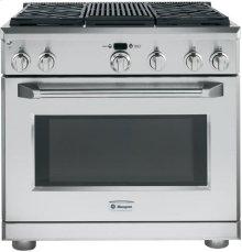 "GE Monogram® 36"" Dual-Fuel Professional Range with 4 Burners and Grill (Liquid Propane)"
