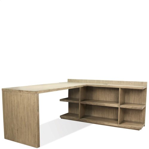 Perspectives - Peninsula Bookcase - Sun-drenched Acacia Finish